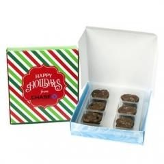 boîte de bretzels au chocolat caramel au sel de mer