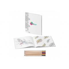 Combiné de livre de coloriage anti-stress