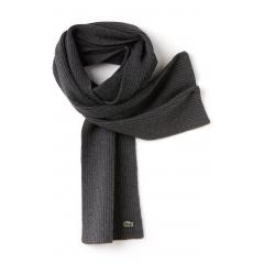 écharpe lacoste en laine moulinée cotelée