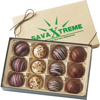 ENS-053 boîte cadeau de 12 délicieuses truffes