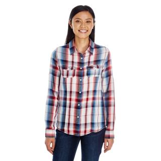 PJL-5885 Chemise à carreaux pour femmes