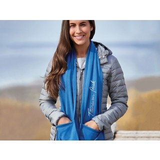 PJL-5382 écharpe en tricot extensible avec réchauffe-mains