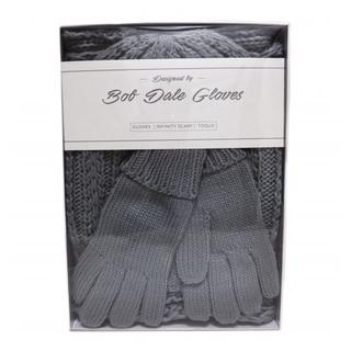 """PJL-5872 Ensemble cadeau tuque, foulard """"infinity"""" et gants"""