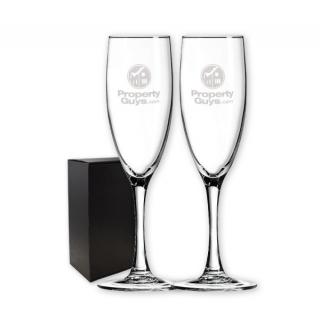 PJL-5354 ensemble de deux flûtes à champagne