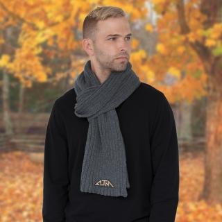 PJL-5293 Foulard en tricot côtelé large