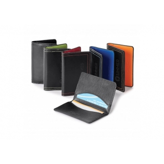 PJL-201 mince porte-cartes en cuir