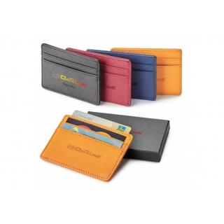 PJL-5188 Porte-cartes avec IDFR en cuir véritable