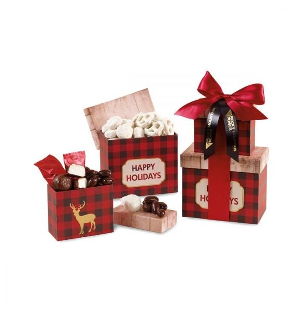 Boîtes-cadeaux avec 4 sortes de friandises