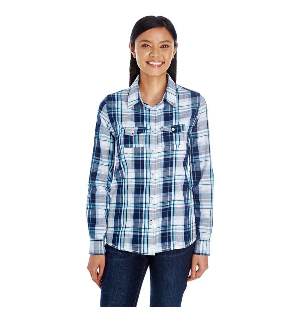 Chemise à carreaux pour femmes
