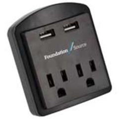 Adaptateur AC et double prise USB