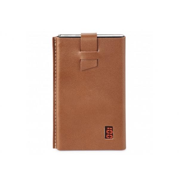 Banque de puissance 4000 mah dans une pochette en cuir