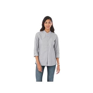 PJL-5270F chemise pour femme manche trois-quart à pois