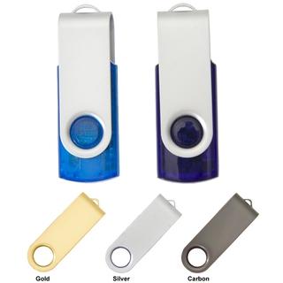 PJL-3348 Clé USB - plastique translucide et pivot en métal