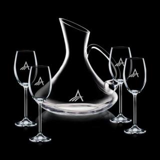 PJL-340 décanteur avec 4 coupes de vins