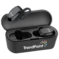 Écouteurs sans fil Bluethooth avec étui chargeur de 800 mAh
