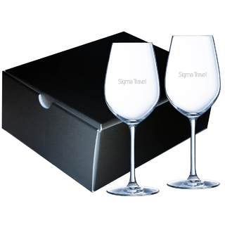PJL-6262 Ensemble de 2 verres à vin en chrystalline