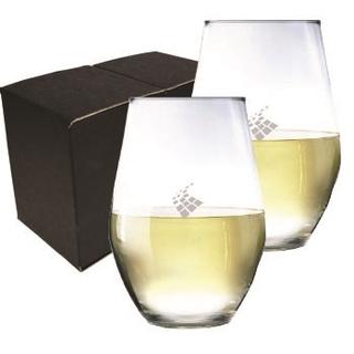 PJL-6261 Ensemble de 2 verres à vin sans pied