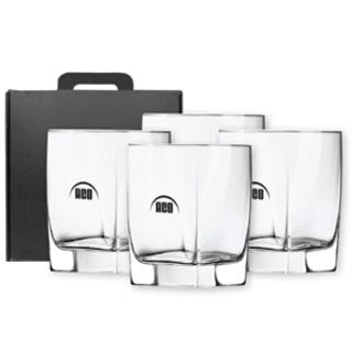PJL-5026 Ensemble de 4 verres carrés