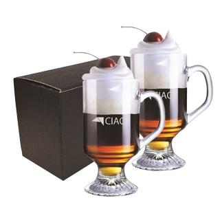PJL-6255 Ensemble de deux tasses à café irlandais