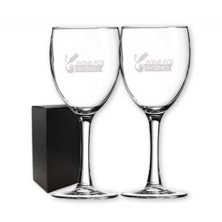PJL-5355 ensemble de deux verres à vin