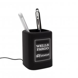 PJL-6395 Porte stylo avec port de changement usb et logo lumineux