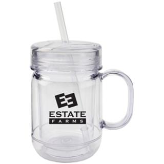 PJL-4850 Tasse en acrylique style pot Mason